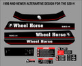 1990 AND NEWER ALTERNATIVE WHEEL HORSE 520-H DECAL SET