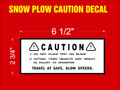 Snow Blade Caution Decal