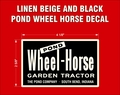 WHEEL HORSE POND  DECAL