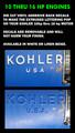 KOHLER  10 THRU 16 HP DIE CUT VINYL LETTERS TO HI-LITE EXTRUDED LETTERS
