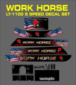 AMERICAN SERIES WORK HORSE LT-1100 5 SPEED TRACTOR DECAL SET