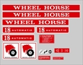 1973 WHEEL HORSE 18 HORSE AUTOMATIC DECAL SET WITHOUT FRONT HOOD DECAL