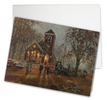 Old Fashioned Hayride Card