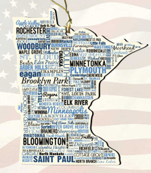 Minnesota Wooden State Ornament