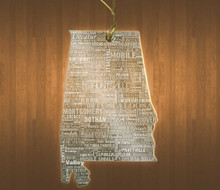 AlabamaAcrylic State Ornament