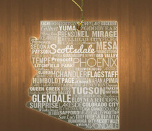 Arizona Acrylic State Ornament