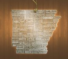 ArkansasAcrylic State Ornament