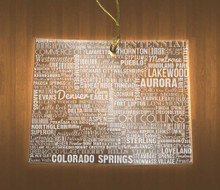 Colorado Acrylic State Ornament