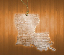 Louisiana Acrylic State Ornament