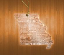 MissouriAcrylic State Ornament