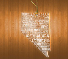 Nevada Acrylic State Ornament