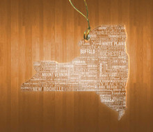 New York Acrylic State Ornament
