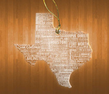 Texas Acrylic State Ornament