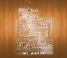 UtahAcrylic State Ornament