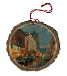 A Night on the Town Wood Ornament