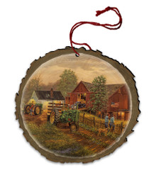 America's Heartland Wood Ornament