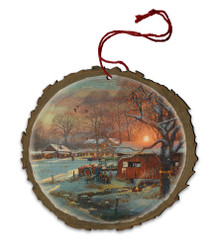 Back Home Again Wood Ornament