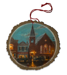 Evening Service Wood Ornament