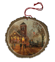 Old Fashioned Hayride Wood Ornament