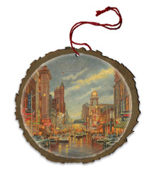 Parkersburg Memories Wood Ornament