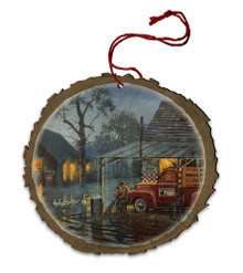 Shelter from the Storm Wood Ornament