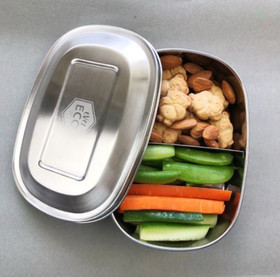 Stainless Steel Bento Snack Box - 2 compartments
