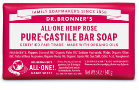 Rose Dr Bronner's Pure Castile Bar Soap
