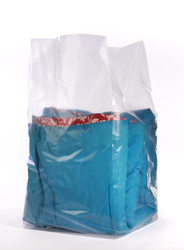 """12"""" x 12"""" x 24"""" 2 Mil Gusseted Poly Bags"""