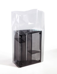 """10"""" x 4"""" x 24"""" 3 Mil Gusseted Poly Bags"""