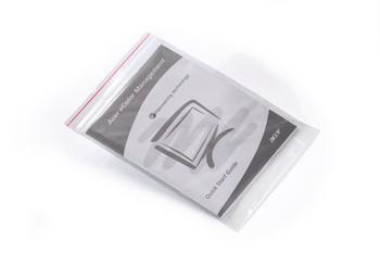 "9"" x 12"" 2 Mil Reclosable Zip Top Poly Bags - Minigrip"