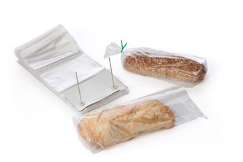 "12"" x 4"" x 19"" Bread Poly Bags bottom gusset"
