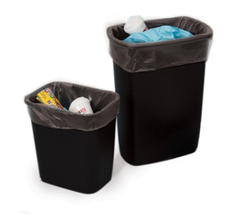 """15"""" x 24"""" 2 Mil Trash Can Liner Black"""