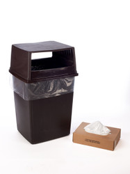 """22"""" x 60"""" 3 Mil Trash Can Liner Clear"""