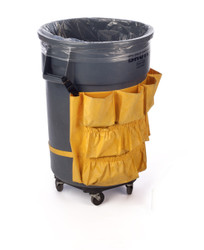 "23"" x 40"" 4 Mil Trash Can Liner Clear"