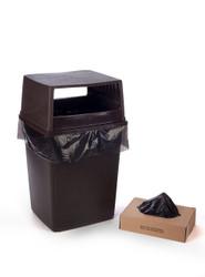 """25"""" x 54"""" 4 Mil Trash Can Liner Black"""