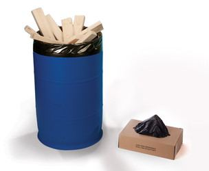 "22"" x 60"" 4 Mil Trash Can Liner Black"