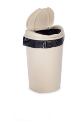 """16"""" x 37"""" 3 Mil Trash Can Liner Black"""