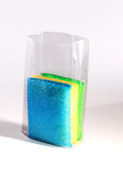 """4"""" x 2"""" x 10"""" 1 Mil Gusseted Poly Bags"""