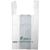 "11.5"" x 6.5"" x 21"" High-Density White T-Shirt Bags Biodegradable"
