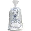 "10 Lb 11"" x 22"" 1.5 Mil Ice Bag w-Twist Ties CRYSTAL ICE"