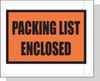 "4.5"" x 5.5"" Packing List Enclosed' Top Panel - Back Load Envelope"