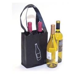 "7"" x 9.25"" Reusable Polypropylene Bag (2-Bottle Wine)"