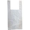 "11.5"" x 21.5"" T-Shirt Bag, White w/Warning Print"