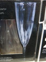 Occasions Plastic Champagne Flutes 24CT -2 | Fairdinks