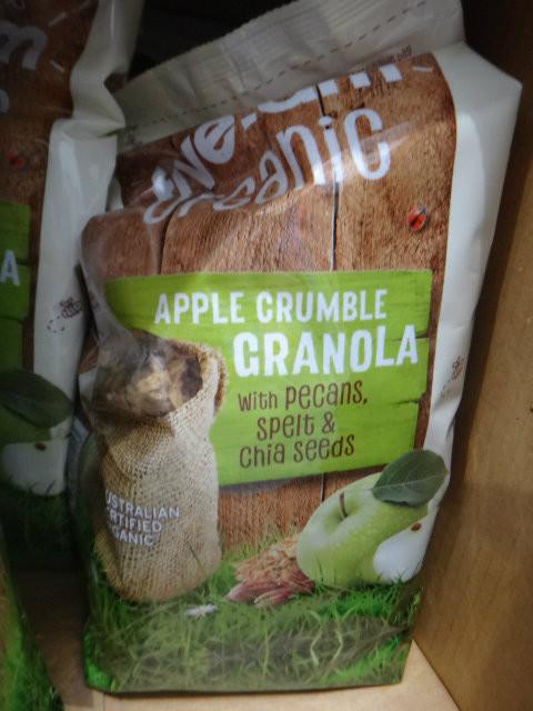 Five: AM Apple Crumble Granola 1KG   Fairdinks