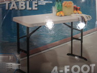 "Lifetime 4"" One Hand Adjustable Commercial Grade Table 