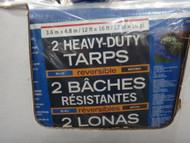 Poly Tarps Reversible Tarp 2 Pack 3.6M x 4.8M | Fairdinks