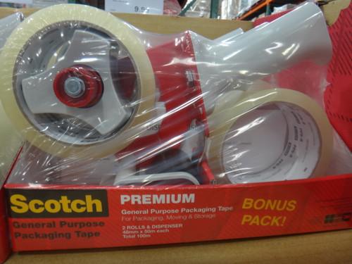 Scotch Packaging Tape Dispenser + 2 Rolls Refill 48mm x 50m | Fairdinks