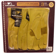 Wells Lamont Men's Leather Work Glove 3PK | Fairdinks