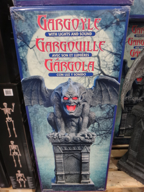 Halloween Haunted Gargoyle W/ Motion Activated Lights & Sounds | Fairdinks